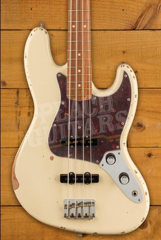 Fender 60th Anniversary Road Worn Jazz Bass Olympic White Pau Ferro