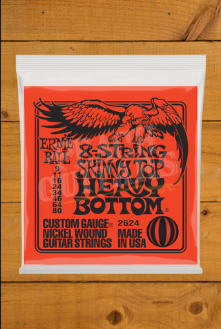 Ernie Ball 8 String 9-80 Skinny Top Heavy Bottom