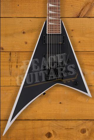 Jackson X Series Rhoads RRX24-MG7, Laurel Fingerboard, Satin Black with Primer Gray Bevels