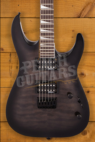 Jackson JS Series Dinky Arch Top JS32Q DKA HT, Amaranth Fingerboard, Transparent Black Burst