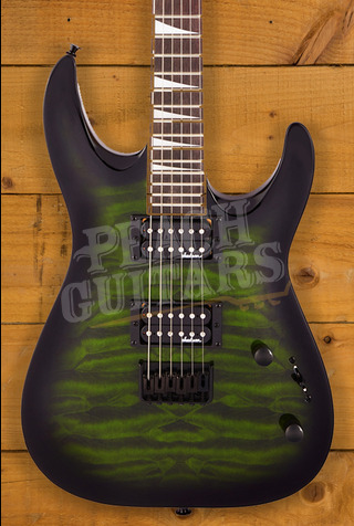 Jackson JS Series Dinky Arch Top JS32Q DKA HT, Amaranth Fingerboard, Transparent Green Burst