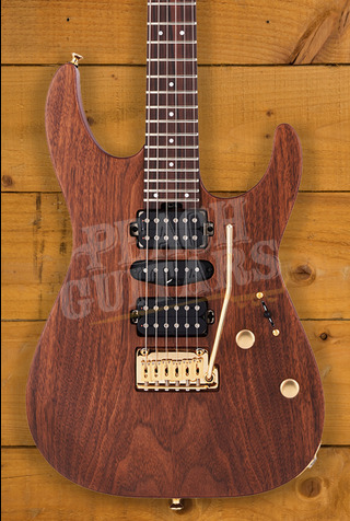 Charvel MJ DK24 HSH 2PT E Mahogany with Figured Walnut, Streaky Ebony Fingerboard, Natural