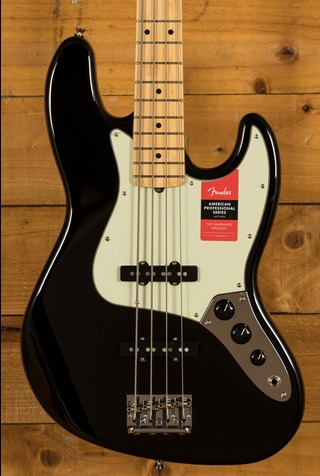 Fender American Pro Jazz Bass Maple Fingerboard, Black