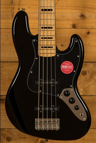 Squier Classic Vibe 70s Jazz Bass V Maple Neck Black
