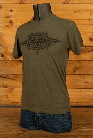C F Martin Clothing - T Shirt - Americas Guitar Green