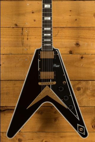 Gibson Custom Flying V Custom w/ Ebony Fingerboard Gloss Ebony