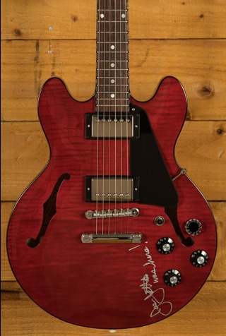 Gibson Hand Signed Joan Jett ES-339 Figured Wine Red