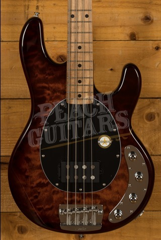 Sterling by Music Man Stingray - Quilt Island Burst Roasted Maple Neck