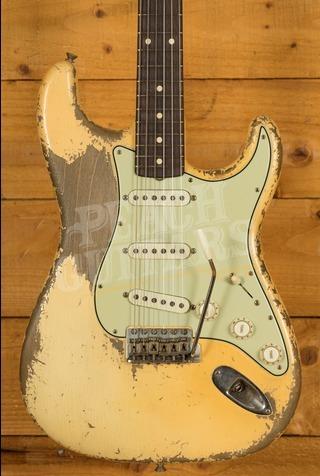 Fender Custom Shop '61 Strat Dale Wilson Ultra Relic Vintage White