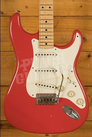 Fender Custom Shop 50's Duo-Tone Strat Fiesta Red Used