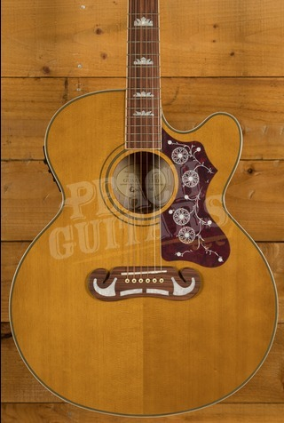 Epiphone EJ-200SCE Solid Top Acoustic Guitar Vintage Natural