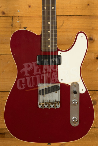 Fender Custom Shop Limited Edition P90 Mahogany Telecaster Journeyman Relic Aged Firemist Red