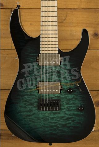 ESP E-II M-II Black Turquiose Burst
