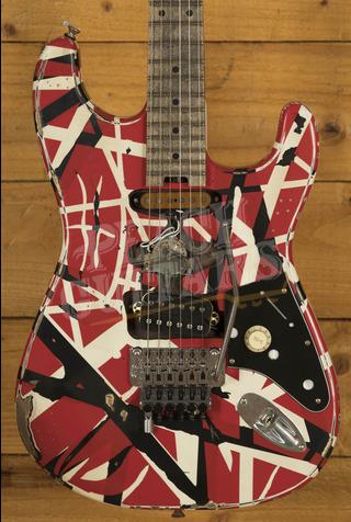 EVH Striped Series Frankie Red/White/Black