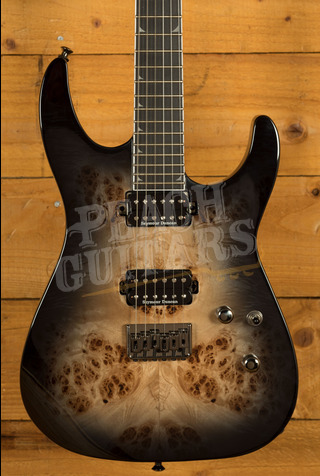 Jackson Pro Series Soloist SL2P MAH HT , Ebony Fingerboard, Transparent Black Burst