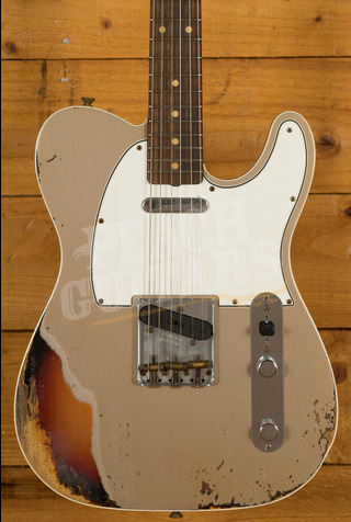 Fender Custom Shop '62 Tele Custom Heavy Relic Shoreline Gold over 3TSB