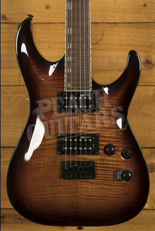 ESP LTD H-200 FM Dark Brown Sunburst