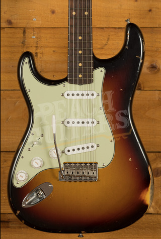 Fender Custom Shop '61 Strat Relic/CC Hardware 3 Tone Sunburst Left Handed