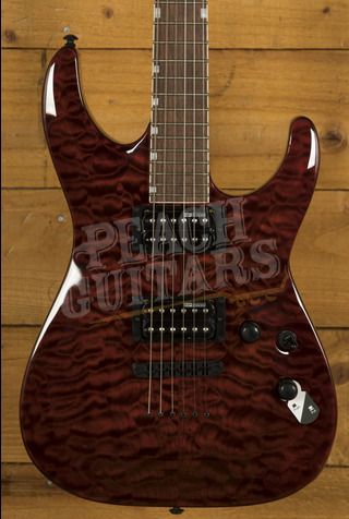 ESP LTD  MH-200 QM NT See Thru Black Cherry