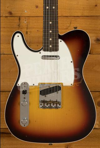 Fender Custom Shop '62 Tele Custom Journeyman Relic 3TSB Left Handed