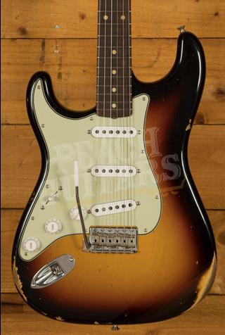 Fender Custom Shop '59 Strat Relic/CC Hardware 3 Tone Sunburst Left Handed