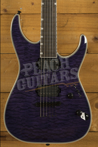 ESP LTD MH-1000 NT QM See Thru Purple