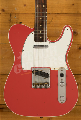 Fender Custom Shop '62 Tele Custom Journeyman Relic Fiesta Red
