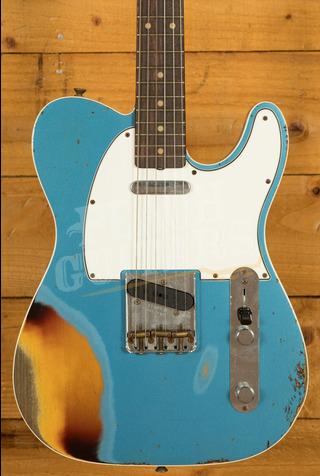 Fender Custom Shop '62 Tele Custom Lake Placid Blue over 3TSB Heavy Relic