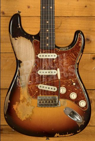 Fender Custom Shop MB Dale Wilson '61 Strat Heavy Relic 3 Tone Sunburst