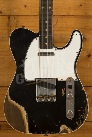Fender Custom Shop '62 Tele Custom Heavy Relic Black