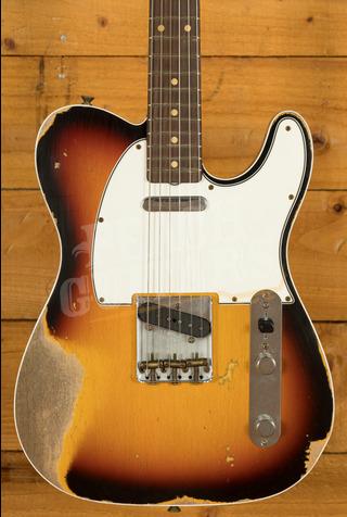 Fender Custom Shop '62 Tele Custom Heavy Relic 3-Tone Sunburst