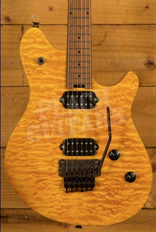 EVH Wolfgang Standard Quilted Maple Top Baked Maple Neck Trans Amber