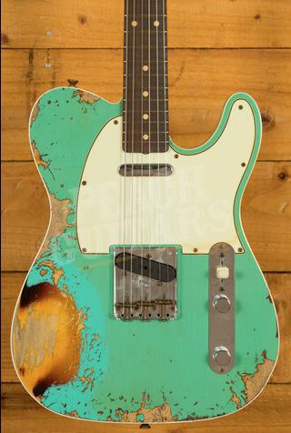 Fender Custom Shop Limited '60 Tele Custom Heavy Relic Aged Sea Foam Green over 3TSB