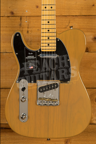 Fender American Professional II Telecaster Left-Hand Butterscotch Blonde Maple