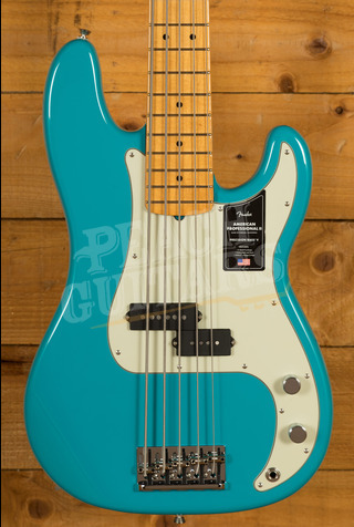 Fender American Professional II Precision Bass V Miami Blue Maple