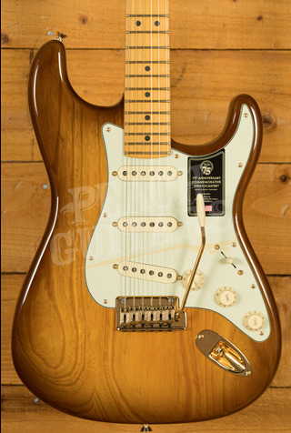 Fender 75th Anniversary Commemorative Strat 2-Colour Bourbon Burst
