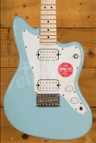 Squier Mini Jazzmaster HH Maple Fingerboard Daphne Blue