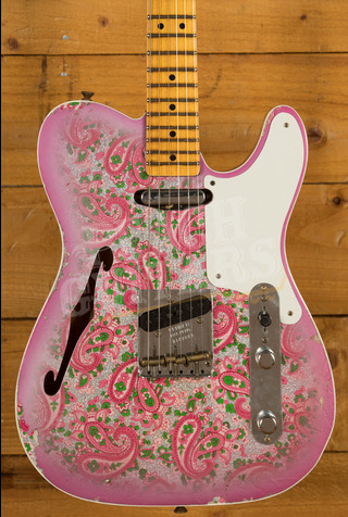 Fender Custom Shop Ltd Ed Double Esquire Custom Relic Aged Pink Paisley