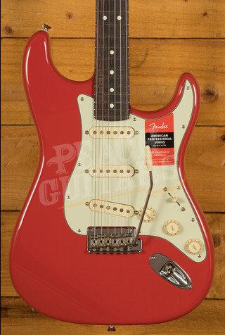 Fender LE American Pro Strat Fiesta Red All Rosewood Neck
