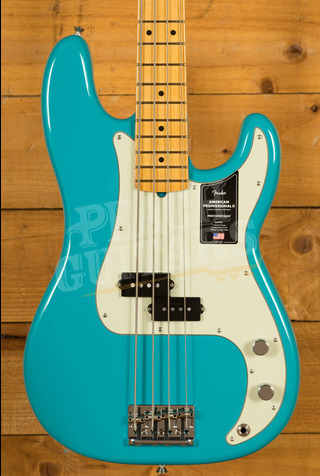 Fender American Professional II Precision Bass Miami Blue Maple
