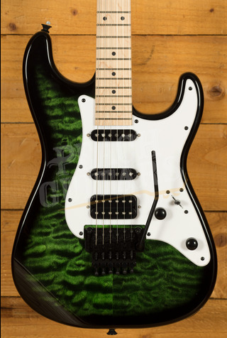 Jackson X Series Adrian Smith SDXQM Transparent Green
