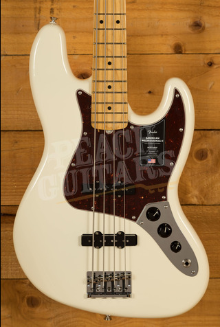Fender American Professional II Jazz Bass Olympic White Maple