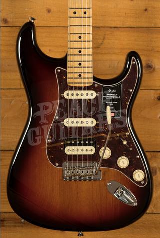 Fender American Professional II Stratocaster HSS 3-Color Sunburst Maple