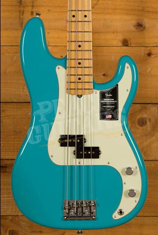 Fender American Professional II Precision Bass Miami Blue Maple