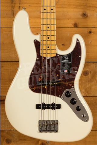 Fender American Professional II Jazz Bass Olympic White Maple