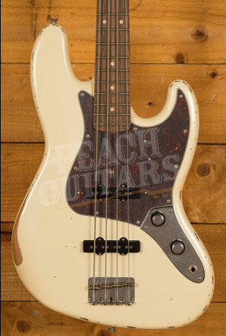 Fender 60th Anniversary Road Worn Jazz Bass Olympic White Pau Ferro