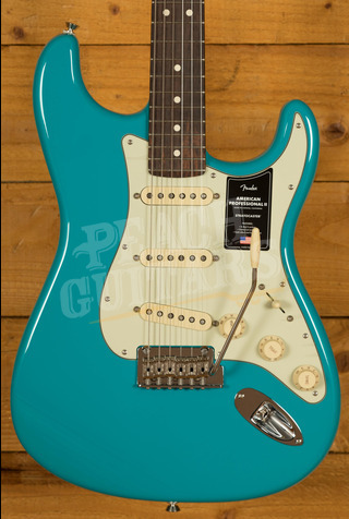 Fender American Professional II Stratocaster Miami Blue Rosewood