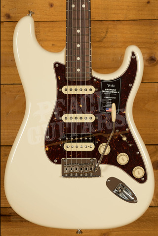 Fender American Professional II Stratocaster HSS Olympic White Rosewood