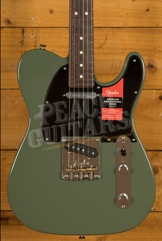 Fender LE American Pro Tele Antique Olive All Rosewood Neck