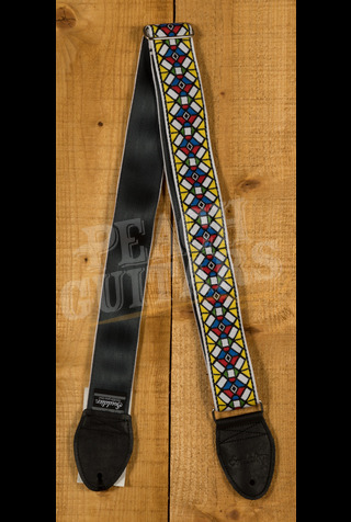 """Souldier GS0486BK02BK Stained Glass 2"""" YL/RD on WH"""